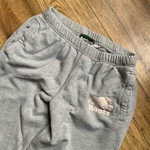 Roots light gray sweatpants